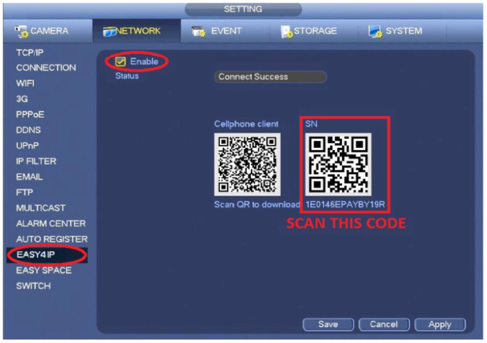 Remote View Code Scan Setup