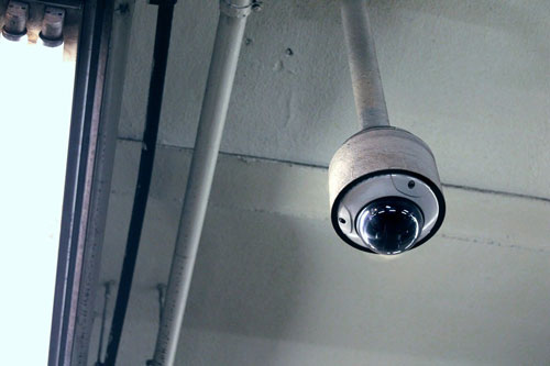 ceiling-mounted dome camera